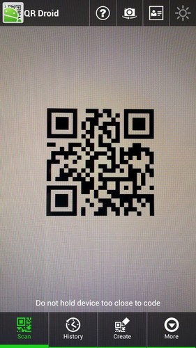 Free QR Droid Private™ cell phone app