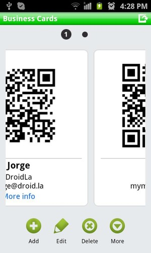 QR Droid Private™ screenshot 2
