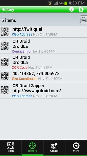 QR Droid Private™ screenshot 3
