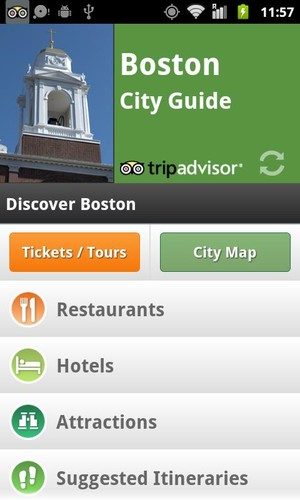 Free Boston City Guide cell phone app