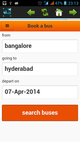 Free Bus Ticket Booking cell phone app