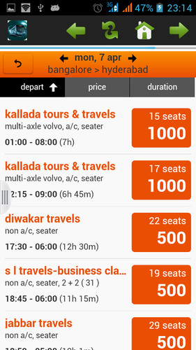 Bus Ticket Booking screenshot 2