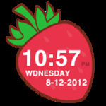 Strawberry Clock Widget
