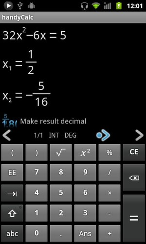 Free handyCalc Calculator cell phone app
