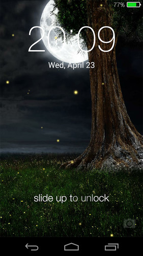 Fireflies lockscreen screenshot 2