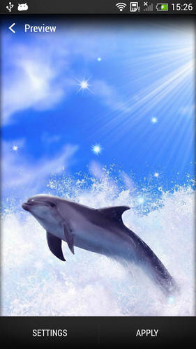 Free Dolphin Live Wallpaper cell phone app