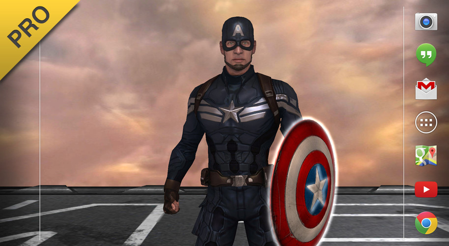 Free Captain America: TWS Live WP cell phone app