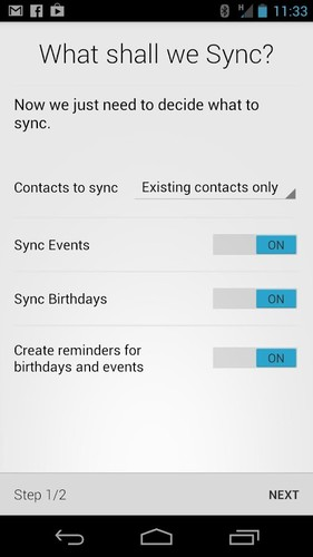 Free HaxSync for Facebook cell phone app