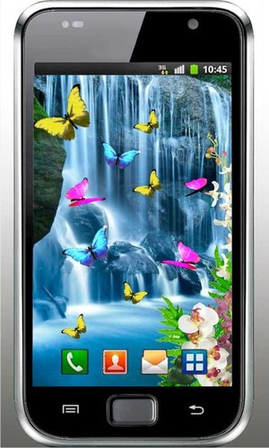 Free Waterfall Tropic livewallpaper cell phone app