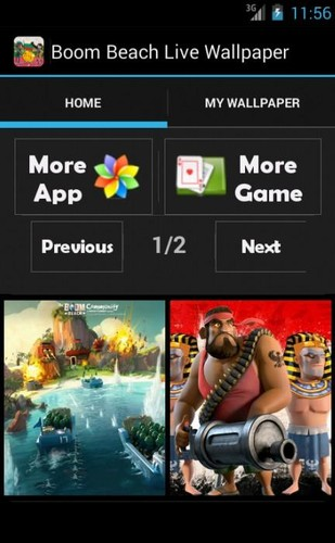 Free Boom Beach Live Wallpapers cell phone app