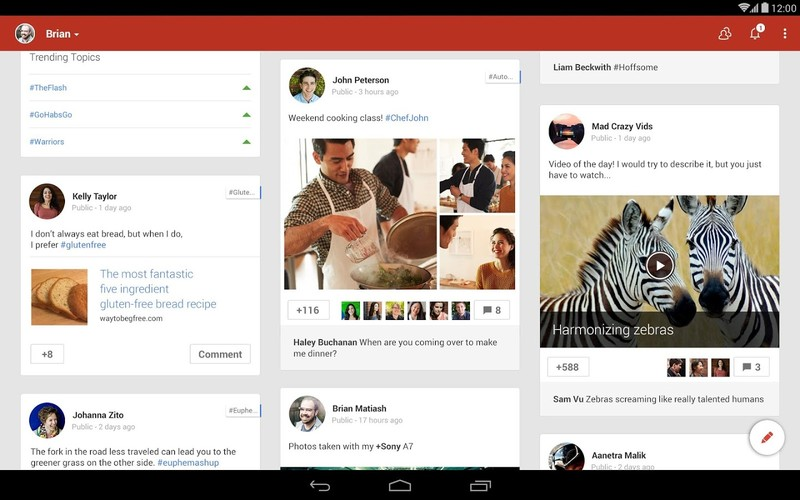 Free Google+ cell phone app