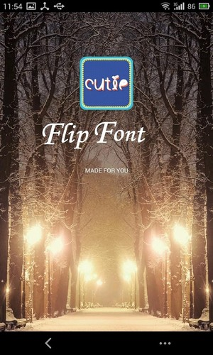 Free Cutie Font for Flipfont cell phone app