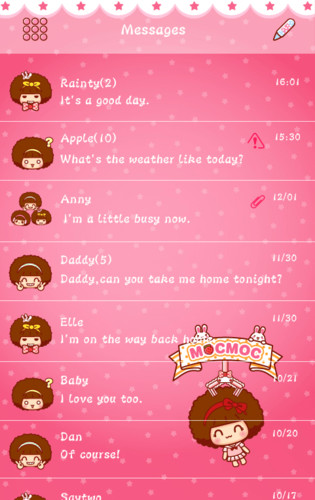 Free Dieylatin FONT FOR GO SMS PRO cell phone app