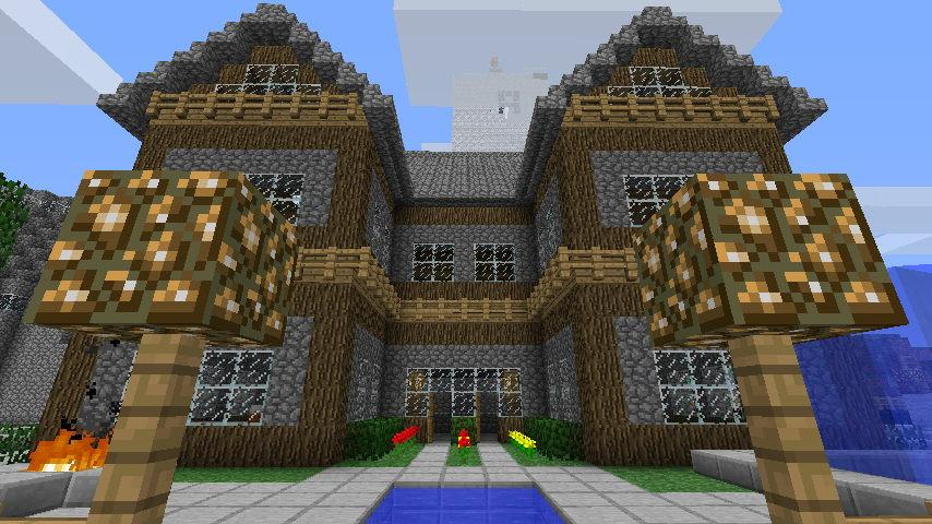 minecraft house ideas wood and cobble