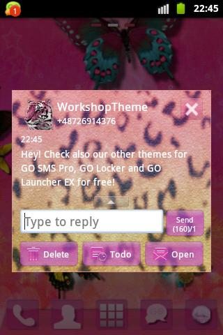 GO SMS Theme Panther screenshot 3