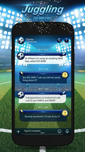 Free GO SMS PRO JUGGLING THEME EX cell phone app