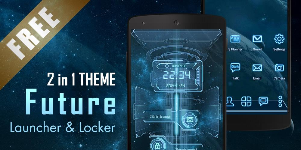 Free Future 3D Launcher & Locker cell phone app