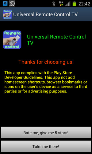 Free Universal Remote Control TV cell phone app