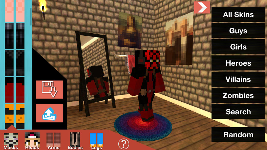 Free SkinSwap: Skins for Minecraft cell phone app