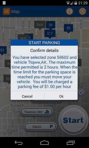 Pango Mobile Parking screenshot 2