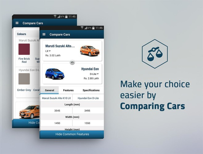 Free CarWale- Search New, Used Cars cell phone app