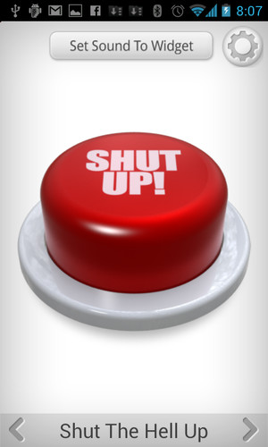 Free Shut Up Button cell phone app