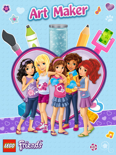 Free LEGO® Friends Art Maker cell phone app