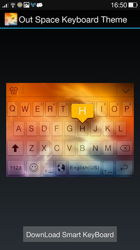 Free Outer Space Theme - iKeyboard cell phone app