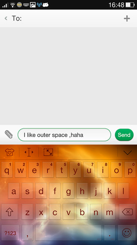 Outer Space Theme - iKeyboard screenshot 2