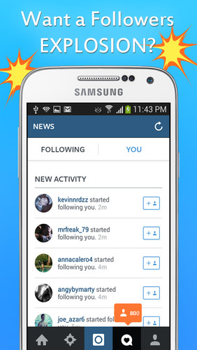 Free Get Followers BOOM cell phone app