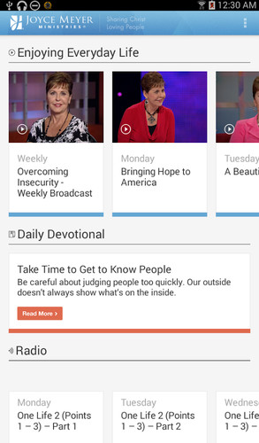 Free Joyce Meyer Ministries cell phone app