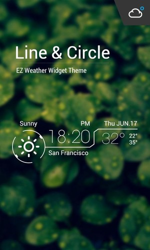 Free Mini Line Round Clock Weather cell phone app