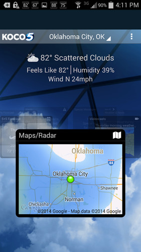 Free KOCO Weather cell phone app