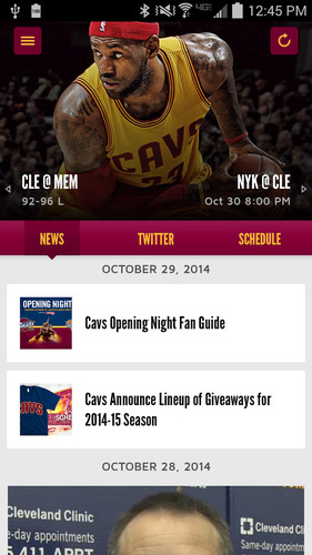 Cleveland Cavaliers screenshot 2