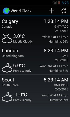 World Clock & Weather Widget screenshot 4