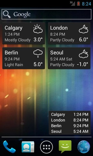 World Clock & Weather Widget screenshot 5