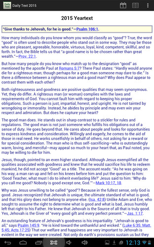Free Daily Bible Text 2015 cell phone app