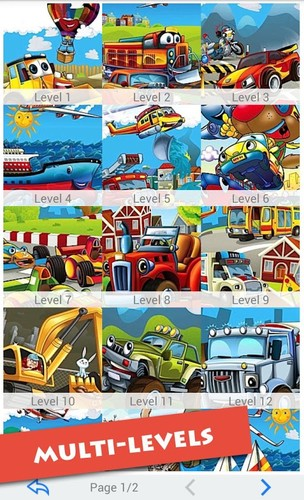 Free Cartoon Vehicles For Kids cell phone app