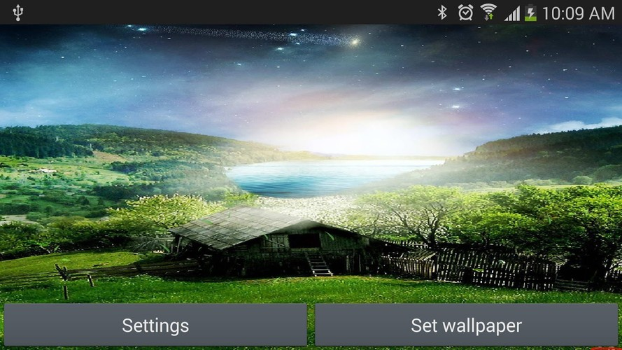 Free Nature Live Wallpaper Meteors cell phone app