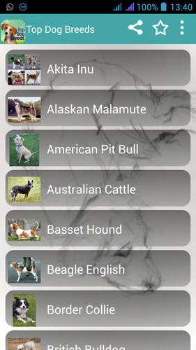 Free Dog Breeds Easy Pet Finder cell phone app