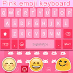 Pink Emoji Keyboard Emoticons