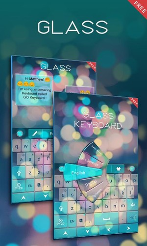 Free Free Z Glass GO Keyboard Theme cell phone app