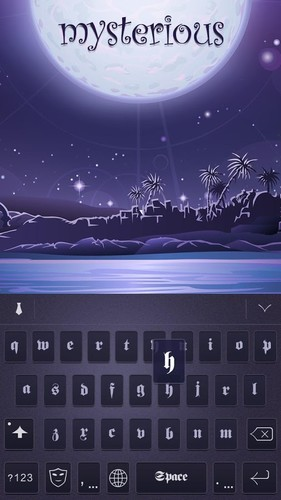 Free Mysterious Theme-EmojiKeyboard cell phone app