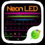 Neon LED GO Keyboard Theme