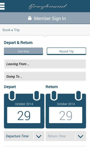 Free Greyhound Lines cell phone app