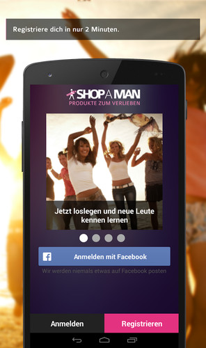 Free SHOP A MAN - dating, chatten cell phone app