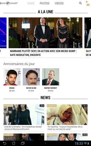 Free PurePeople: actu & news people cell phone app