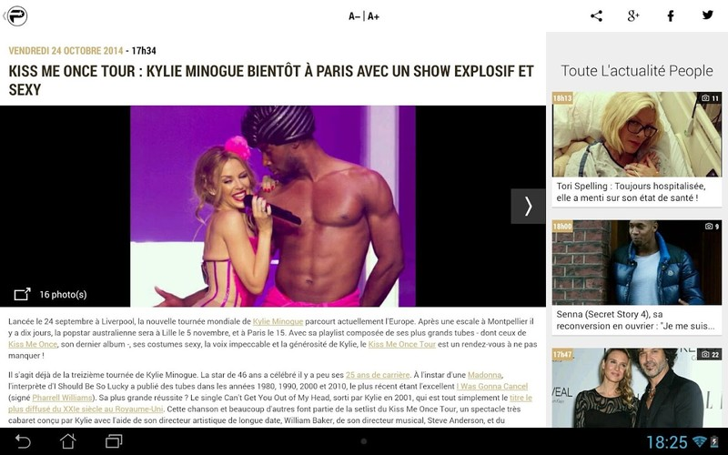 PurePeople: actu & news people screenshot 5