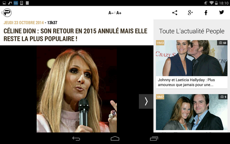 PurePeople: actu & news people screenshot 10