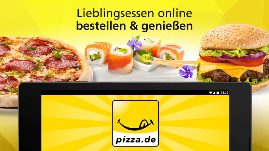 Free pizza.de - order food online cell phone app
